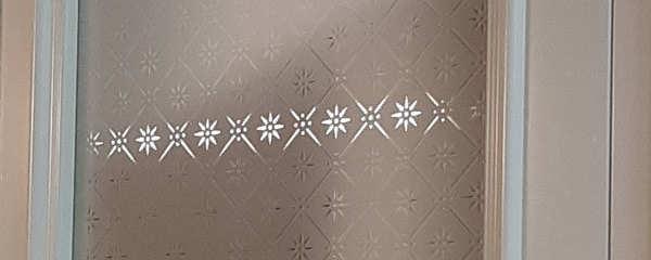 Glass med storstjerne mønster
